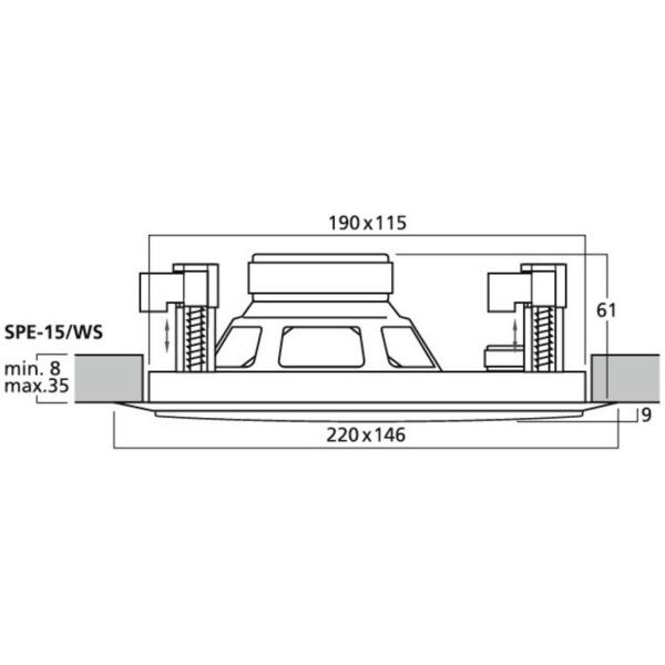 Inbouw speakers voor sauna winkel boot of zwembad for Inbouw zwembad rechthoek